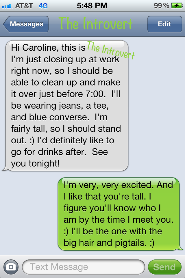 First date text message examples